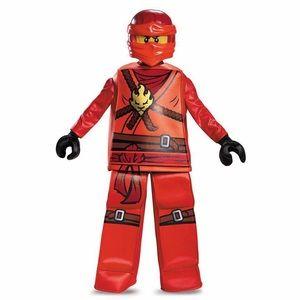NWT LEGO NINJAGO Costume KAI KIDS LARGE 10-12 RED